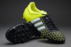 timeless design 3a1f9 980c6 adidas ACE 15.3 FG AG - Core Black White Solar Yellow. Top SoccerSoccer  CleatsSoccer ...