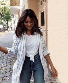 "madametamtam on Instagram: ""Neuer Herbst H&M Haul online ✨"" Duster Coat, Kimono Top, Jeans, Jackets, Instagram, Tops, Women, Fashion, Fall"
