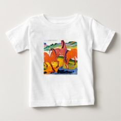 The Red Horses by Franz Marc Baby T-Shirt - horse animal horses riding freedom