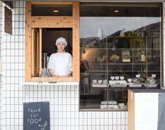 Bakery Shop Design, Kiosk Design, Restaurant Design, Store Design, Small Coffee Shop, Coffee To Go, Cafe Display, Mini Cafe, Bakery Decor