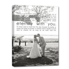a sweet wedding keepsake - your wedding portrait along with your vows or the lyrics to your first dance together as husband and wife!
