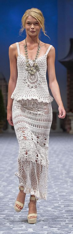 CROCHET FASHION TRENDS exclusive crochet two-piece suit (top & skirt) - made to order
