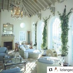 I love this room by the great Bunny Williams, it sums up all my favorite things- blue and white, wicker, indoor/ outdoor living..AND I love…