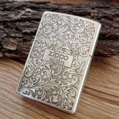 Japanese Smoked Silver Arabesque Zippo Lighter Limited Edition