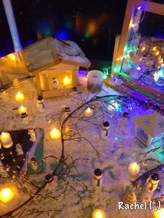 """""""Snowy Land"""" Small World Play (from Stimulating Learning with Rachel)"""