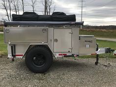Peanut - Multi-Sport Expedition Trailer starting at - Nuthouse Industries Bug Out Trailer, Off Road Camper Trailer, Trailer Build, Camper Trailers, Expedition Trailer, Overland Trailer, Small Cargo Trailers, Roof Rack Tent, Adventure Trailers