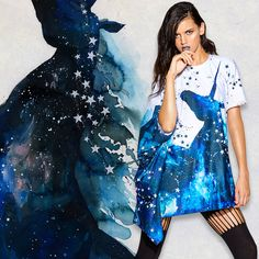 Cosmic Unicorn Super Drape Top ($109AUD) › Lora Zombie x BlackMilk: Stargazer collection › Black Milk Clothing