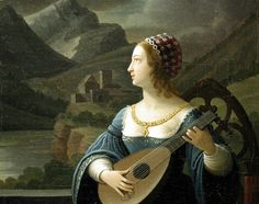 Kirchebner, Peter Paul (1800-1852) - Lute-player in the moon landscape