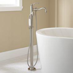 Leta Freestanding Tub Faucet with Hand Shower - Tub Faucets - Bathroom