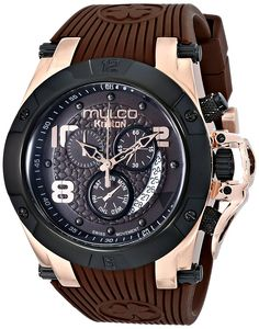 MULCO Unisex MW5-2029-035 Analog Display Swiss Quartz Brown Watch * Visit the image link more details.
