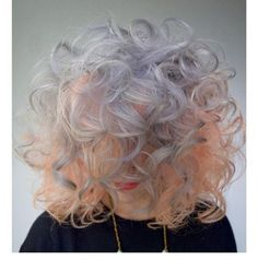 Peach & Silver  curly style by Melody and Michael...