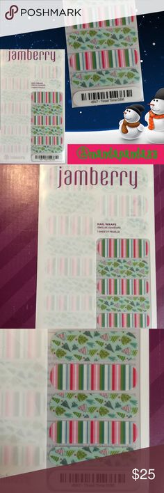 """Jamberry """"Tinsel Town"""" Christmas Nail Wraps NWT 🎄 These festive wraps are too cute! Celebrate the Holiday Season with these super cute Christmas nail wraps! Jamberry Accessories"""