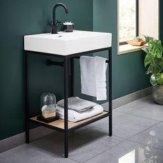 66 Ideas bathroom sink vanity unit toilets for 2019 Bathroom Sink Vanity Units, Small Bathroom Vanities, Modern Bathroom, Small Bathroom Ideas, Cloakroom Vanity Unit, Bathroom Sink Design, Basin Vanity Unit, Bathroom Wall, Ideas Baños