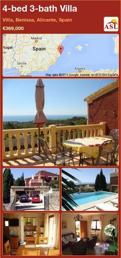 4-bed 3-bath Villa in Villa, Benissa, Alicante, Spain ►€369,000 #PropertyForSaleInSpain