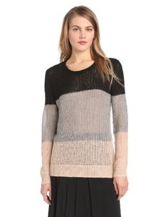 10 Crosby Derek Lam Women's Colorblock Mohair Crew Neck Sweater Add it to your wishlist at yourwishfromme.com