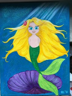#Meerjungfrau #Mermaid #Acryl auf #Leinwand, #Acrylpainting #canvas #canvasart #art #painting Painting, Mermaids, Canvas, Painting Art, Paintings, Drawings