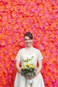 Miss Eclectic Bride « David Tutera Wedding Blog • It's a Bride's Life • Real Brides Blogging til I do! - awesome backdrop!!