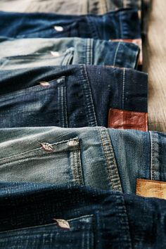 Some of the best denim in the world: Pure Blue Japan. Blue Jeans, Denim Jeans, Sexy Jeans, Raw Denim, Skinny Fit Jeans, Denim Fashion, Womens Fashion, New Outfits, Menswear