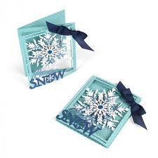 Sizzix Thinlits Die Set 8PK - Tri-fold Card, Snowflake by Lindsey Serata 661555