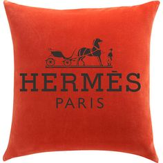 Hermes Pillow - totally want to make these with iron on pillow cases
