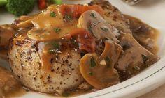 Chicken Marsala with garlic mashed potatoes from Carabbas - my fav!