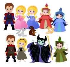 Sleeping Princess Digital Clipart / Cute Princess Digital Clipart for Personal… Disney Kunst, Disney Art, Felt Dolls, Paper Dolls, Chibi Kawaii, Disney Clipart, Cute Princess, Disney Scrapbook, Princesas Disney