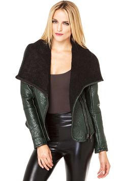 Blank NYC Cowl Neck Jacket in Matches The Drapes
