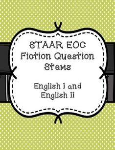 These english 2 staar practice questions will prepare your high practice for the staar eoc english i and english ii test with these question stems fandeluxe