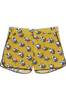 Gucci Parasol-print silk crepe de chine shorts | NET-A-PORTER