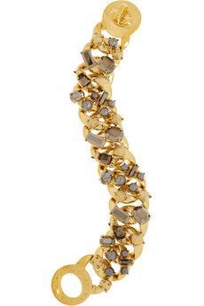 Marc by Marc Jacobs Katie gold-tone, crystal and faux pearl bracelet | NET-A-PORTER