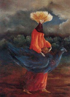 leonora carrington - portrait of the late mrs. partridge
