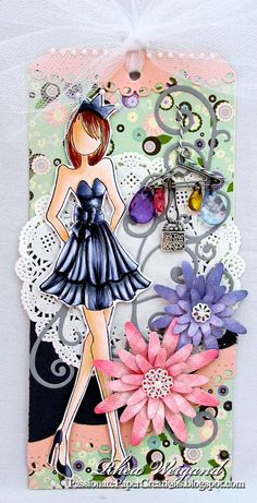 Diy paper dolls mixed media ideas for 2019 Prima Paper Dolls, Prima Doll Stamps, Tag Craft, Paper Tags, Artist Trading Cards, Copics, Card Tags, Altered Art, Art Dolls