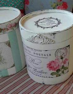 Cajas vintage, rosas shabby chic! Taller de arte y diseño Gabriela Previley
