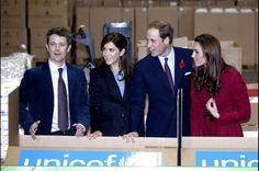 Hertug og hertuginden af Cambridge, William og Kate var i 2011 på besøg i Danmark, for at besøge UNICEF. De blev vist rundt af Kronprins Frederik og Kronprinsesse Mary (Foto: Jeppe Michael Jensen/Scanpix 2013) - 46 år: Se kronprins Frederiks liv i 46 billeder - Nationalt | www.b.dk