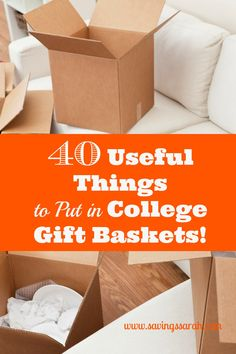 Want to be a hero to a student heading off to college or returning for a new year? Fill a gift basket from among these 40 useful and not expensive items and watch a college student's eyes light up when you give it to him or her.
