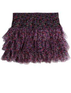 Tiered Floral Printed Skirt | Girls Skirts & Skorts Bottoms | Shop Justice  $23.94