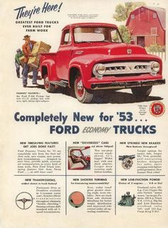 #TBT to the first ads for the '53 F-100!  #FordTrucks #F100 #F100Central