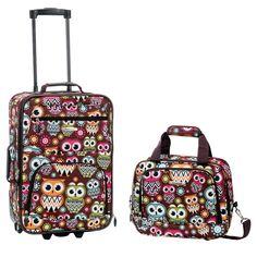 Rockland Fashion 2pc Luggage Set - Owl,