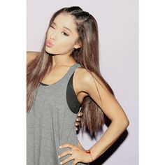 Ariana Grande Puts a Twist on the French Braid Hairstyle ❤ liked on Polyvore featuring ariana and ariana grande