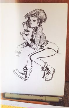 """Theres a few photos of the challenge """"Inktober 2014 """""""