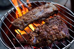 NYT Cooking: Grilled Skirt Steak With Smoky Eggplant Chutney