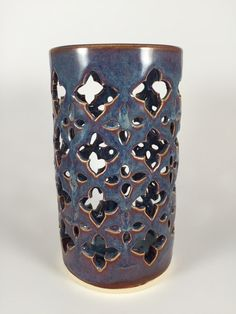 Ceramic Lantern with Moroccan Design: hand by QuigleyCeramics