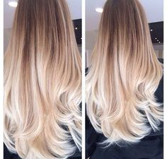 Image result for platinum butter blonde ombre hair