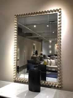 Miami Residence, Oversized Mirror, Vanity, Furniture, Home Decor, Dressing Tables, Powder Room, Decoration Home, Room Decor
