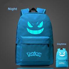 Pouplar Luminous Printing Game Pokemon Go Backpack Pokemon Gengar Backpacks School Bags For Teenager Girls Mochila Feminina