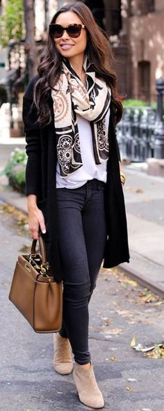 Long Black Cardigan Fall Streestyle Inspo by With Love From Kat