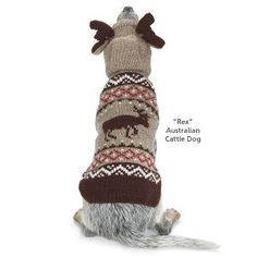 Moose with Antlers Sweater - Dog Beds, Dog Harnesses and Collars, Dog Clothes and Gifts for Dog Lovers | In The Company Of Dogs