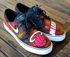 Custom Miami Heat Stefan Janoski NikeSB Sneakers by BStreetShoes