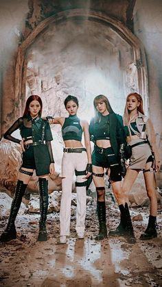 blackpink kill this love Kpop Girl Groups, Korean Girl Groups, Kpop Girls, Black Pink Songs, Black Pink Kpop, Blackpink Fashion, Korean Fashion, Blackpink Youtube, Mode Rose