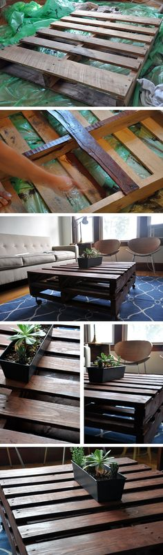 coffee table pallets | DIY: Pallet Board Coffee Table « coriander